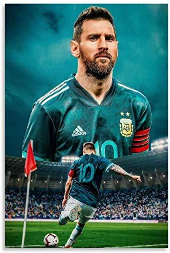 TANXM Lienzo De Impresión 40x60cm Sin Marco Lionel Messi Jugando al fútbol en el Cartel archivado y la Imagen artística de la Pared Impresa Carteles de decoración de Dormitorio Familiar Moderno