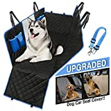 Dog Car Seat Cover Waterproof Hammock protects all back-seat area. Mesh Viewing Window