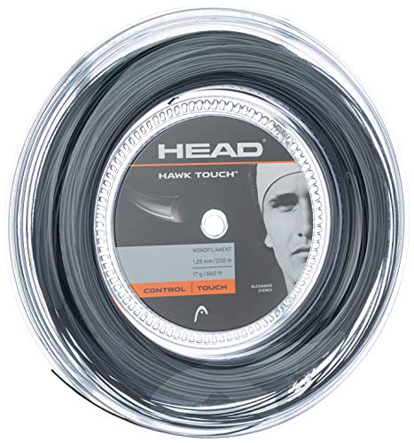 HEAD Hawk Touch 200M Reel, Racchetta da Tennis Unisex Adulto, Antracite, 17
