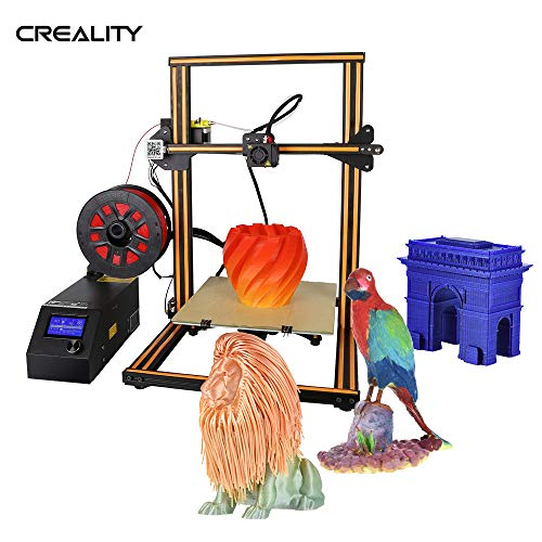 Aibecy Creality 3D CR-10S Self-Assembly 3D DIY Printer 300 * 300 * 400mm Print Size with Aluminum Frame & Filament Detector Includes 200g Filament Supports PLA/ABS/TPU/Copper/Wood/Carbon Filamen