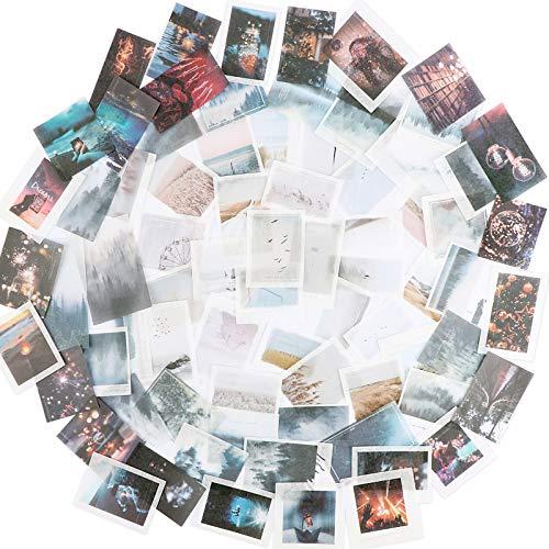 150PCS Autocollants Scrapbooking Stickers Etiquettes Adhésif en Papier Japonais Paysage Urbain Voyage pour Scrapbooking DIY Journal Album Photo Artisanat Bricolage Accessoires (Style A)