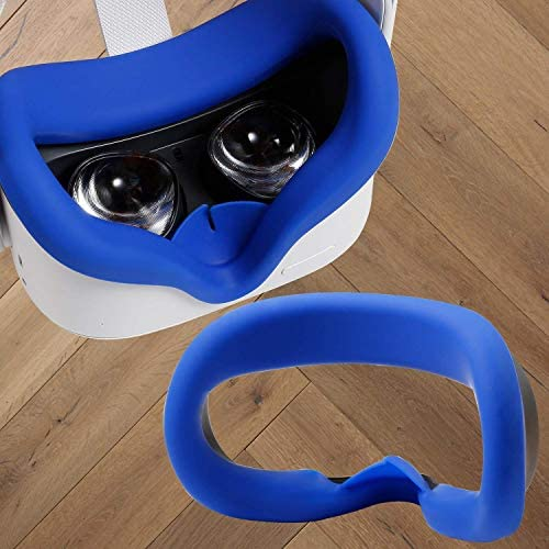 Topcovos Newest VR Silicone Interfacial Cover for Oculus Quest 2 Face Protect Skin Sweatproof Lightproof Anti-Leakage