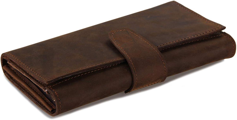 WYBXA Lange Brieftasche Für Herren Retro-Multi-Card-Kupplung Brieftasche Mit Großer Kapazität Vielseitige Casual-Brieftasche Business-Geldbörse B07P5RYK6L