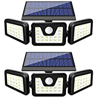 2-Pack Furande Solar Motion Sensor Outdoor Light