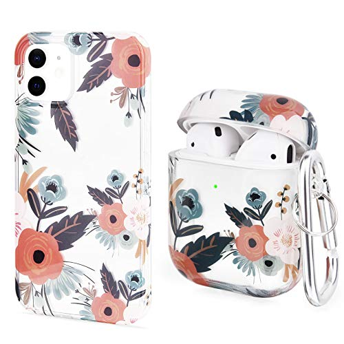 V-MORO Case Compatible with iPhone 12 Mini and Airpods, Cute Clear...