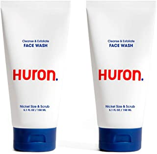 Huron - Men's Daily Face Wash. Creamy cleanser with natural exfoliants gently clears away dirt, oil and pollution. Conditi...