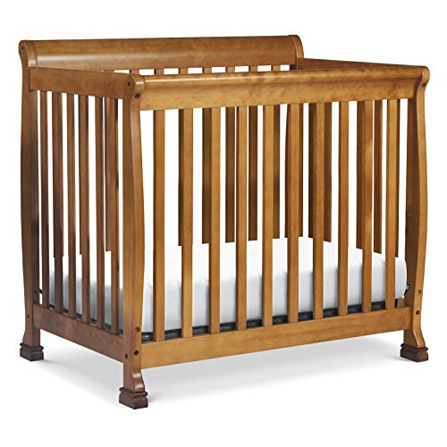 DaVinci Kalani 4-in-1 Convertible Mini Crib in Chestnut, Greenguard Gold Certified