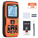 LOMVUM 120m Laser Measure, 393ft Digital Laser Distance Meter with Mute Function Large