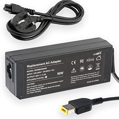 65W 90W Replacement AC Adapter Laptop Charger for Lenovo Ideapad Flex 2 Flex 3 Yoga 11 11S Series Thinkpad Yoga/Carbon/Edge/Helix/Flex Series Notebook