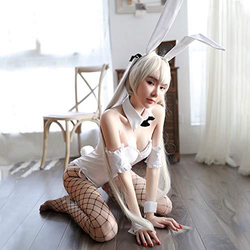 ESZH Sexy Unterwäsche Sexy Dessous Hase Leidenschaft Set Mit Wattepad Sexy Uniform Versuchung Anime Weibliche Espresso Schönheit Dünne Dünne Tasse Flirt Serie Universalgröße,2