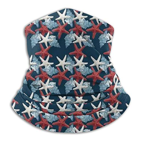 Akhy Multifunctional Headwear Face Mask Headband Neck Gaiter Sea Star Conch Balaclava for Men and Women