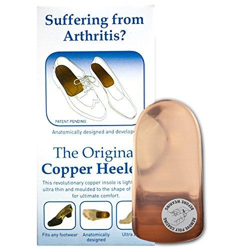 Original Copper Heeler Einlegesohlen, Braun - kupfer - Größe: Small