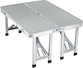 طاولة قابلة للطي باربعة مقاعد من لوازم – لون فضي/أسود
