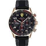 Scuderia Ferrari Reloj para de Cuarzo con Correa en Cuero 830719