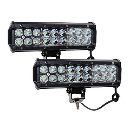 2x 9In 54W off road lampe Barre Phare de Travail LED flood spot LED light bar Antibrouillard LED Feux Diurne lumière éclairage de moto rampe de toit feu de recul Camion 4x4 Tracteur Bateau 12V-24V