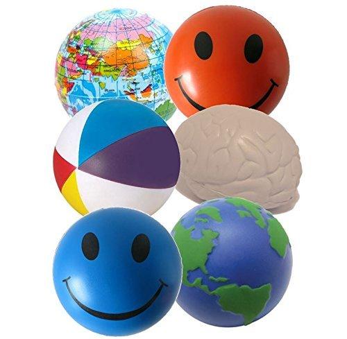 StressCHECK Pelota Anti Estrés - 6 x Bola Anti-estrés para Apretar Mezcladas ADHD y Autismo