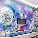 papel tapiz muralla china Murales personalizados a gran escala cálido y romántico diente de león...