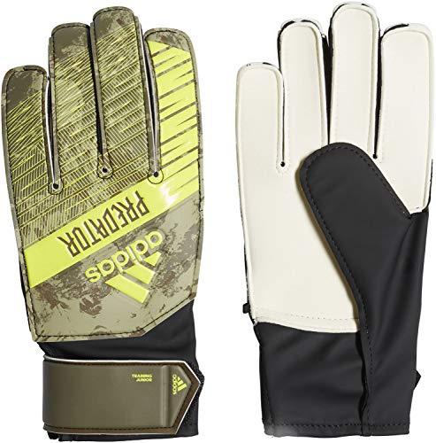 adidas Kinder PRED TRN J Soccer Gloves, raw Khaki/Trace Olive f17, 4