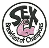 Sex Breakfast Champions Military Patch Fabric Embroidered Badges Patch Tactical Stickers for Clothes with Hook & Loop