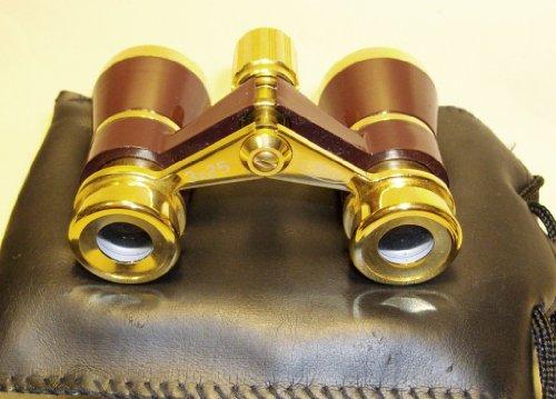 LaScala Optics Rigoletto Opera Glasses 3x25 Central Focusing Binoculars LSR, COLORS White Body,