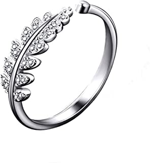 Jewels Galaxy Love Collection Brass and Cubic Zirconia Adjustable Ring for Women