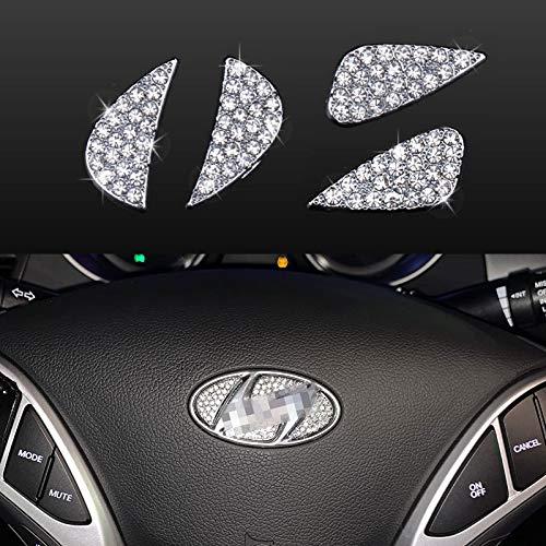 Bling Bling Car Steering Wheel Decorative Accessories Interior Diamond Stickers Rhinestone Decals...