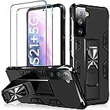 TQCS für Samsung Galaxy S21 Plus Hülle +2 Panzerglas [Echter Militärischer Schutz], Handyhülle S21 Plus mit Horizontalem & Vertikalem Ständer, Schutzhülle Kompatibel S21+ Hülle