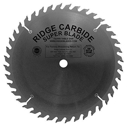 "Ridge Carbide TS2000 Super Table Saw Blade 10"" 40 Tooth ATB/R .125 Kerf 5/8"" Arbor"