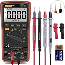 Digital Multimeter, TRMS 6000 Counts Volt Meter Manual Auto Ranging; Measures Voltage Tester, Current, Resistance; Tests Diodes, Transistors, Temperature
