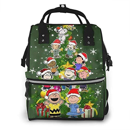 NHJYU Sac à langer Sac à dos - Charlie Brown Tree Multifunction Waterproof Travel Sac à dos Maternity Baby Nappy Changing Bags