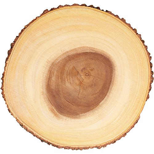Kitchencraft Artesà rústico tronco de árbol de madera Tabla de quesos/bandeja con borde de corteza, 35cm (14