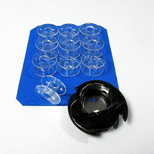 Estuche para bobinas + 10 bobinas para máquina de coser Singer 9960,9970,9985#416397501