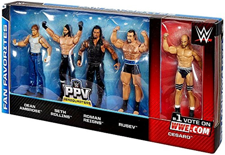 Fan 5 Multipack by Mattel WWE Basic Figure Favorites XuZPOki