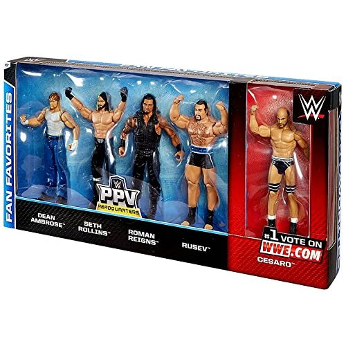 WWE Basic Series Fan Favorite Action Figure 5-Pack