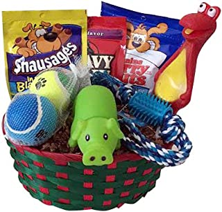 Dog Puppy Gift Box Basket Set Treat Crew Toys Package