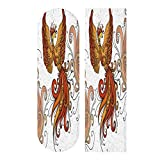 ALUONI Skateboard Griptape,Firebird Clipart.Black Contour On A White Background 9' x 33', 23cm x 84cm,1 pcs, Waterproof Grip Tape Sheet, Sandpaper for Skateboard, Longboard, Scooter SW128369