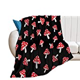 brandsonSale EFOEKY Mushroom Ultra Soft Fleece Blanket for Kids Adults Lightweight Cozy Plush Flannel Blanket for Sofa/Couch/Living Room/Bed Gift All Season Throw Blanket,40'×50'