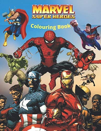 Marvel Colouring Book: the Book for children more than 45 picture of superheroes wih best quality