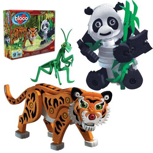 Bloco BC-25008 Tiger and Panda - Set de construcción (237 Piezas)