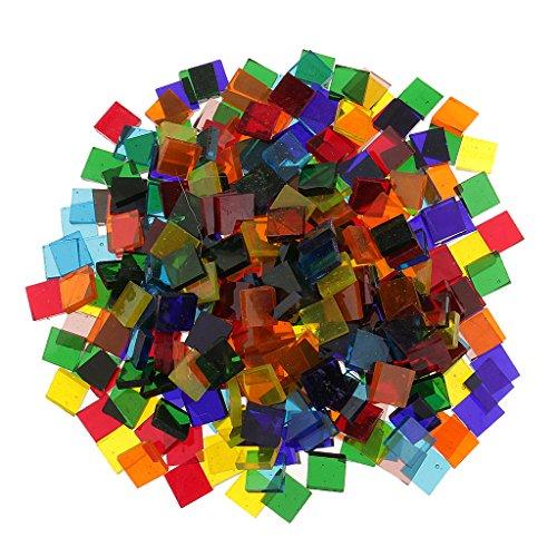 freneci Triángulo Cuadrado Al Por Mayor Azulejos de Mosaico Tessera Piezas de Vidrio para Hacer Mosaicos - tal como se describe, 11mm