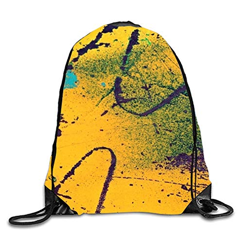 uykjuykj Tunnelzug Rucksäcke, Astonished Kitty Sackpack Drawstring Backpack Waterproof Gymsack Daypack Wayward Rusts10 Lightweight Unique 17x14 IN