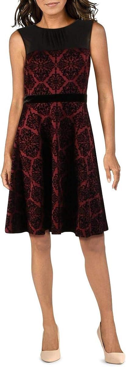 Gabby Skye Cheap mail order specialty store 100% quality warranty! Women's Sleeveless Round Neck Velvet Scuba Fi Printed