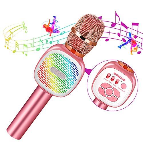 Microfono Inalámbrico Karaoke, SGODDE Micrófono Karaoke Bluetooth Portátil, Microfono Altavoz KTV...