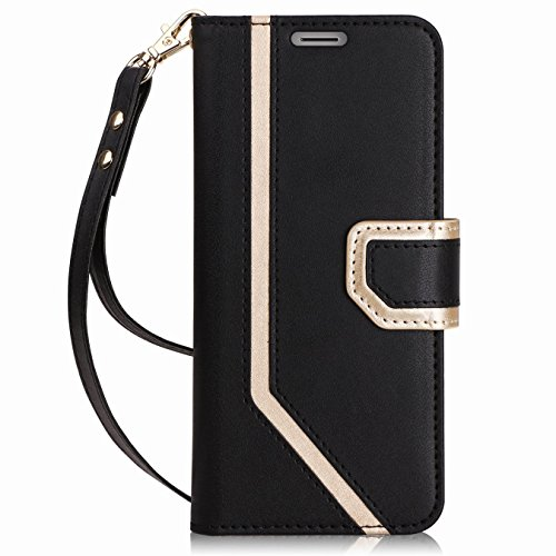 FYY Für Galaxy Note 9 Hülle, Handyhülle Für Samsung Galaxy Note 9 [Premium Leder] [Standfunktion] [Kartenfach] [Magnetverschluss] Schlanke Leder Brieftasche für Samsung Galaxy Note 9 (2018)-Schwarz