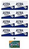 40 Cuchillas de afeitar Astra - Superior Stainless + 5 cuchillas de afeitar Rainbow Super Stainless