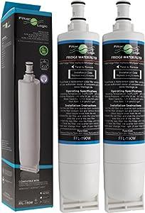 FilterLogic FFL-190W | Filtre à eau compatible avec Whirlpool SBS200, 484000008726 - SBS002, 481281729632 - SBS001, 481281728986 - USC009/1 Cartouche filtrante réfrigérateur frigo américain (Lot de 2)