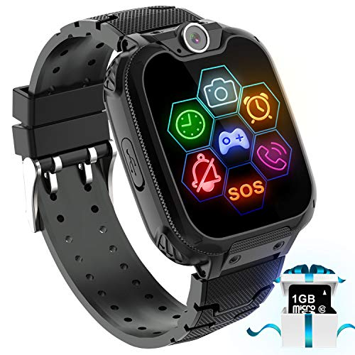 "Kids Game Smart Watch Phone - 1.54"" Touch Screen Game Smartwatches with [1GB Micro SD Card] Call..."