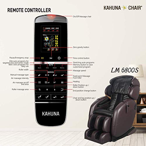 Kahuna Massage Chair LM-6800S + 2 Years Extended Warranty - Space-Saving Zero Gravity Full-Body...