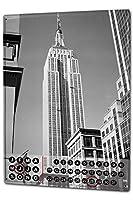 カレンダー Perpetual Calendar Wanderlust City Butcher New York USA Tin Metal Magnetic