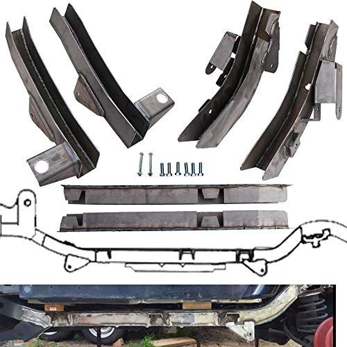 NIXFACE 6Pcs Rear Trail Arm/Skid Plate Center Driver/Passenger Center Skid Plate Frame Repair Fit for 97-02 Jeep Wrangler TJ